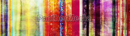 colorful watercolor stripes banner with added