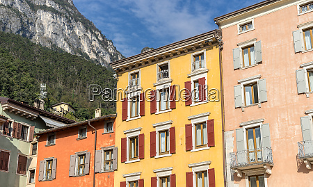facades of houses in riva on