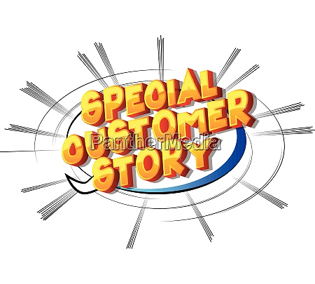 special customer story comic book