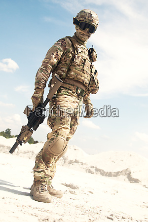 war games player equipped with tactical