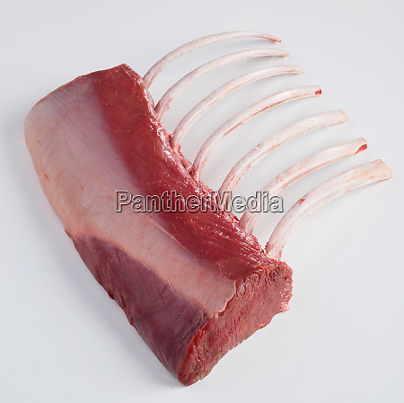 raw deer meet with ribs