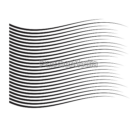 perspective speed motion lines wavy horizontal