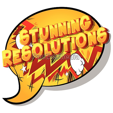 stunning resolutions comic book style