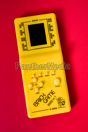 old legendary portable game console tetris