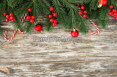 christmas and new year wooden background