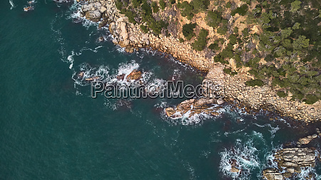 aerial drone picture from costa brava
