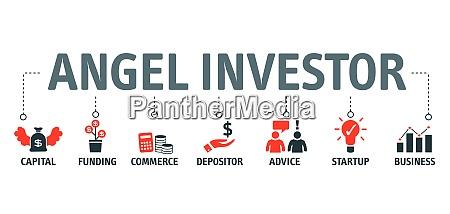 angel investor concept vector illustration