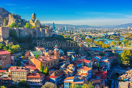 panoramic view of tbilisi georgia