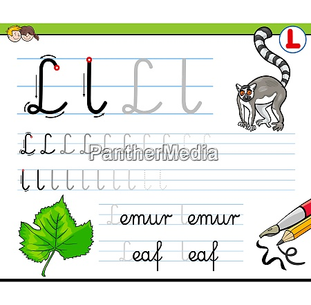 how to write letter l workbook
