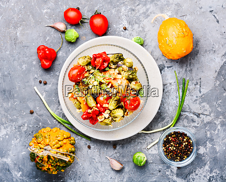baked vegetable salad