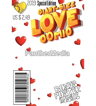editable giant size love comic book