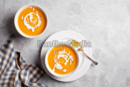 couple of bowls of buttenut squash