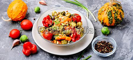 baked, vegetable, salad - 26052563