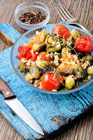 baked, vegetable, salad - 26052568
