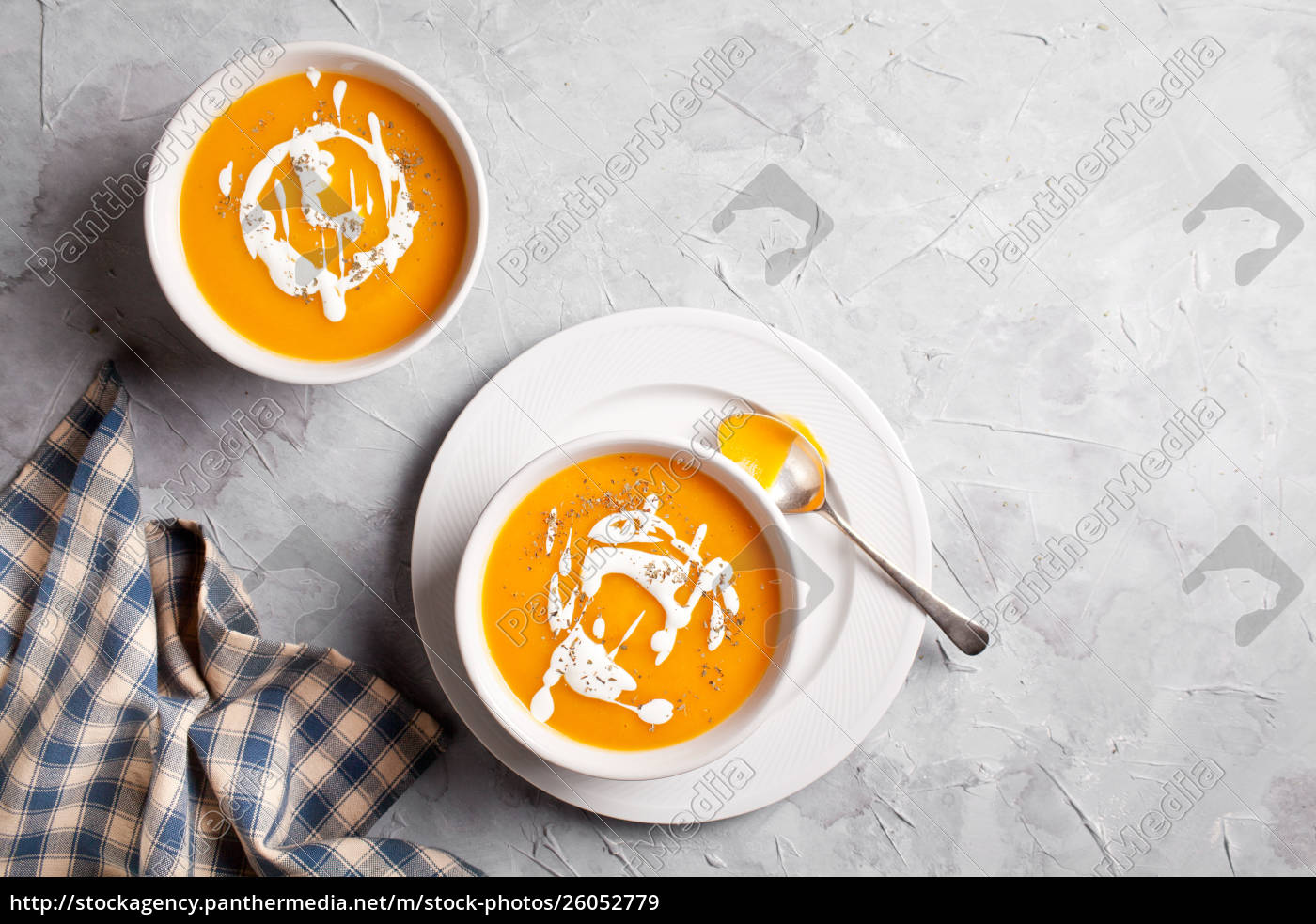 couple, of, bowls, of, buttenut, squash - 26052779