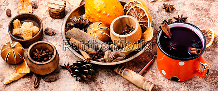 ingredients, for, mulled, wine - 26052861