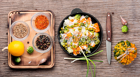 lean, vegetable, risotto - 26052670