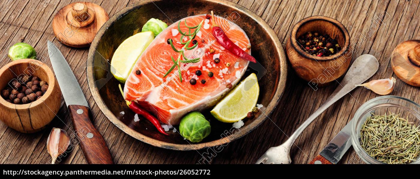 raw, salmon, steak - 26052772