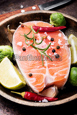raw, salmon, steak - 26052773
