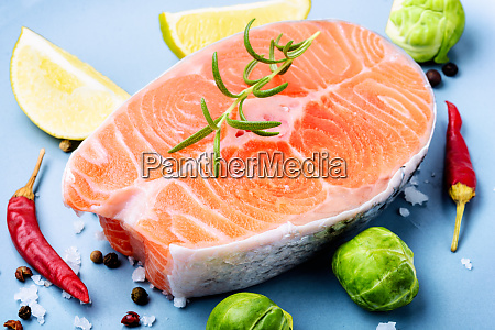 raw, salmon, steak - 26052774