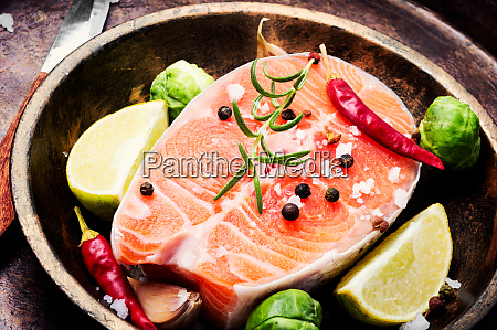 raw, salmon, steak - 26052775