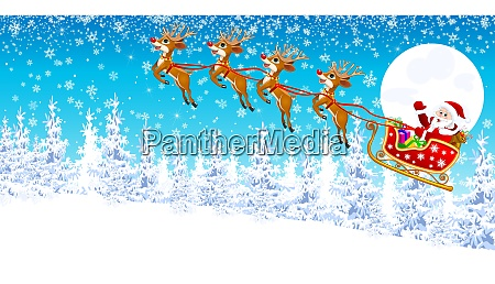santa, claus, on, a, sleigh, with - 26052110