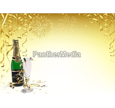 golden happy new year background