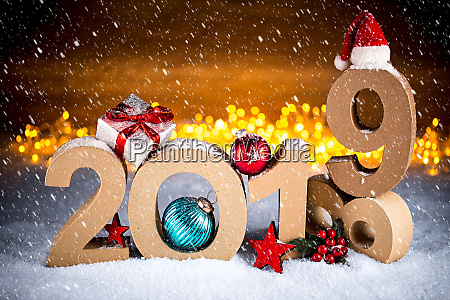 2019 happy new year christmas greeting