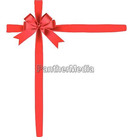 bow in red for a present
