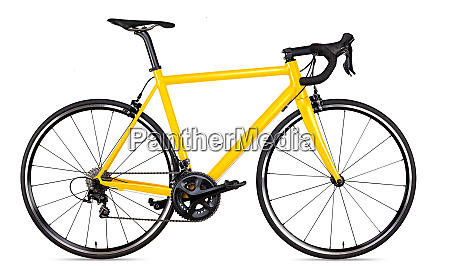 yellow black racing sport road bike