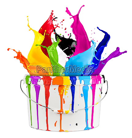 paint bucket color splash