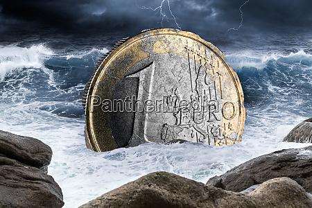 euro european currency crisis concept
