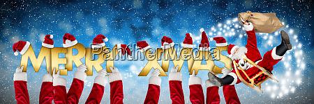 merry christmas xmas greeting funny santa