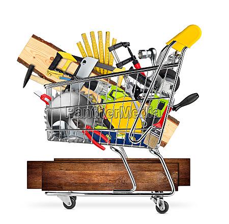 diy, market, shopping, cart, concept - 26053216