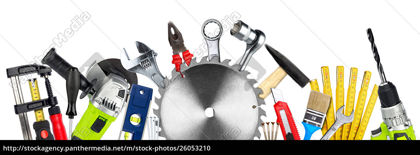 diy, tools, collage, concept, isolated - 26053210