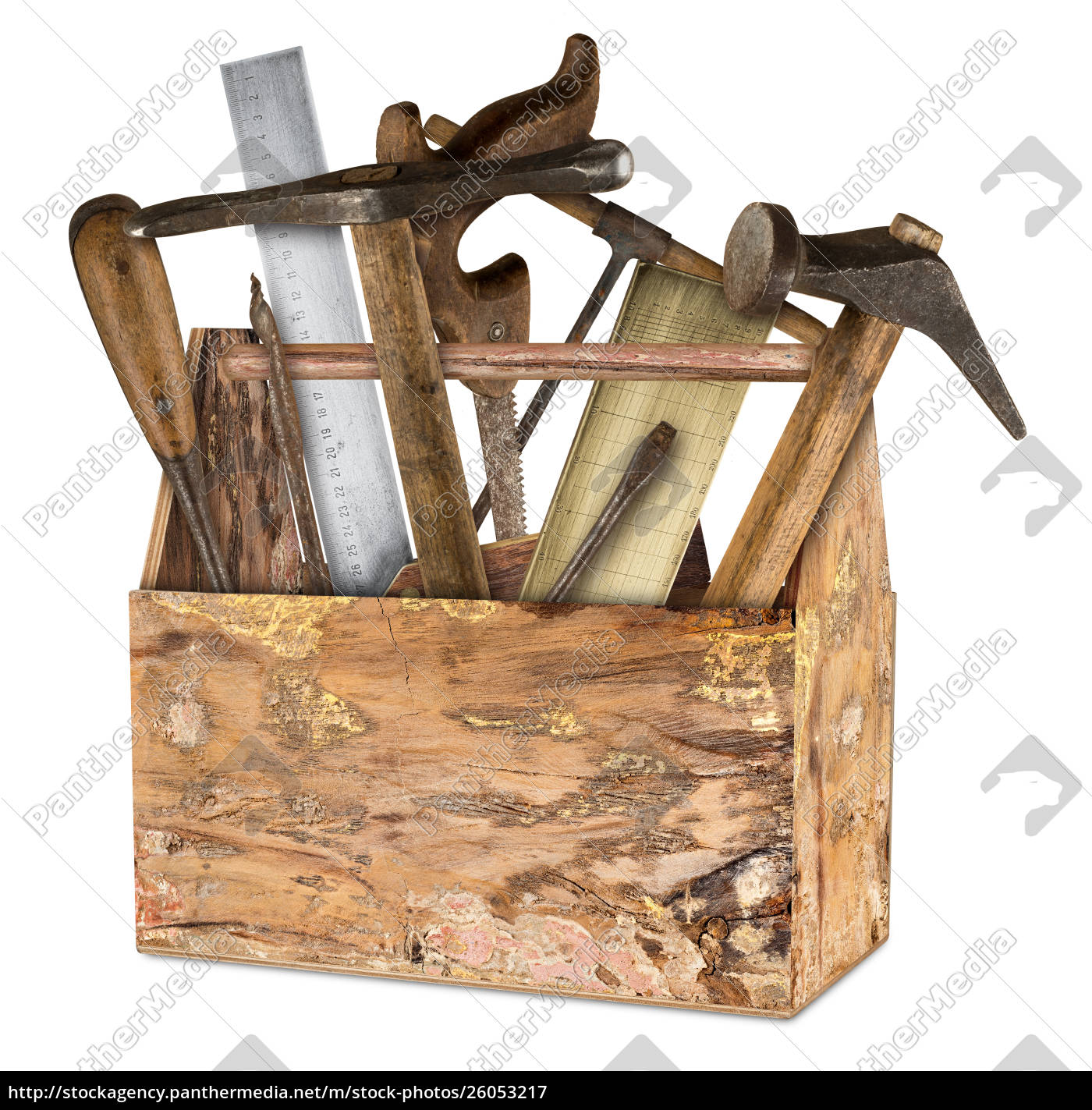 wooden, old, rustic, retro, tool, box - 26053217