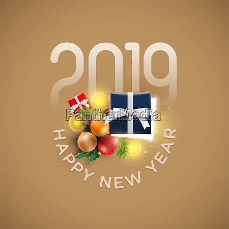 new year decoration objects and gift