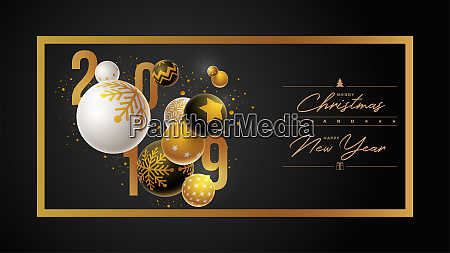 christmas and new year 2019 design