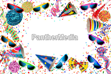 colorful party carnival birthday celebration background