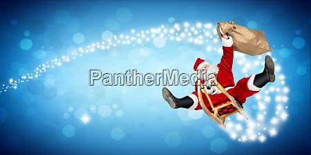 crazy santa claus sleigh funny crazy