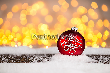 red merry christmas xmas bauble ball
