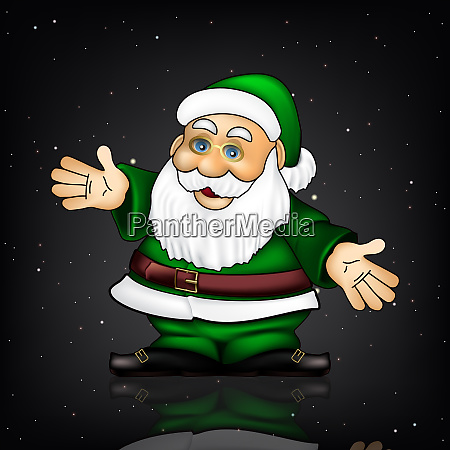 christmas greeting with santa claus and