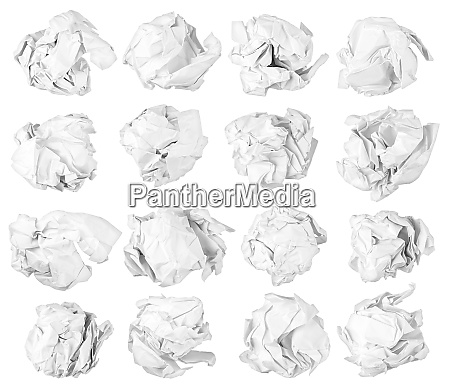 isolated paper balls