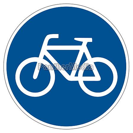 bicycle lane road sign illustration