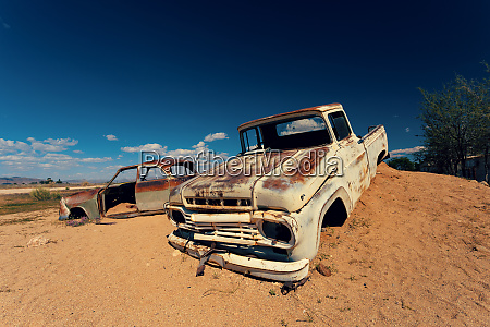 abandoned cars in solitaire namibia africa