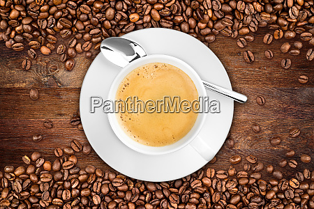 coffee old oak background