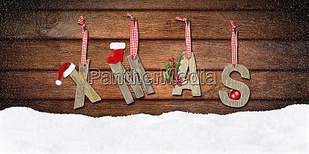 xmas lettering