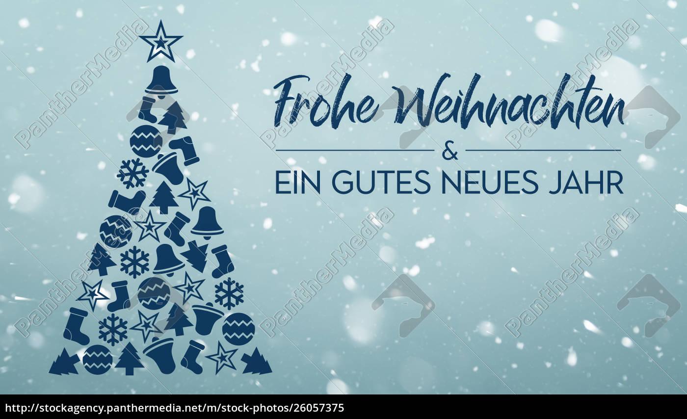 Frohe Weihnachten Und Ein.Stock Photo 26057375 Frohe Weihnachten Und Ein Gutes Neues Jahr Merry Christmas