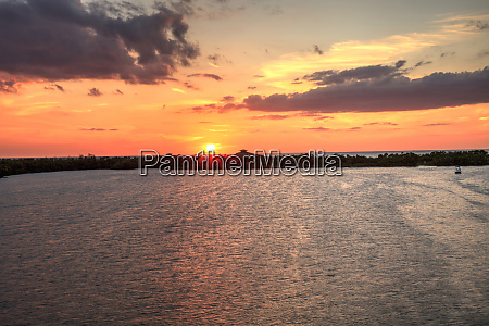 new pass from estero bay sunset