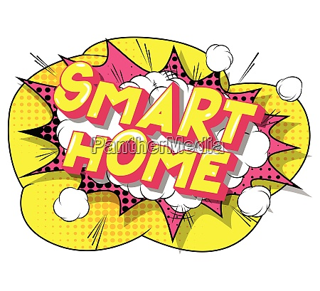 smart home comic book style